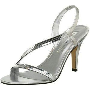 Bandolino Slingback Silver Heels